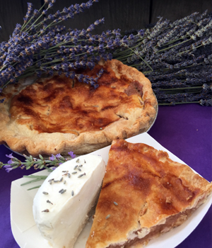 lavender pie and ice cream from Pelindaba Lavender farm
