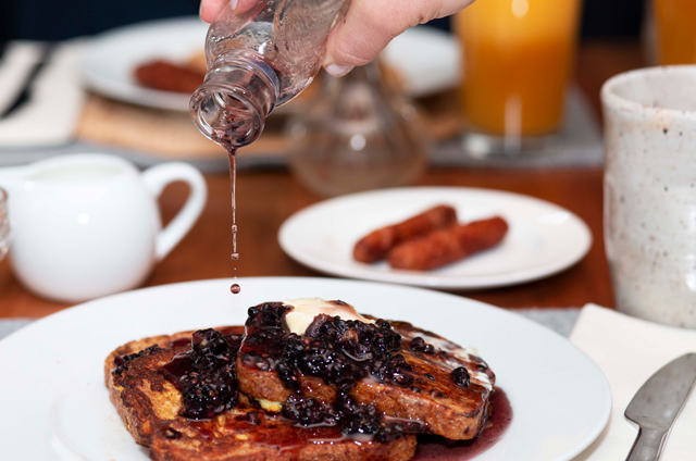 French Toast with Lavender Blackberry Maple Syrup