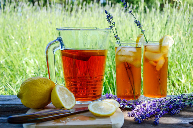 Lavender Iced Tea is Summer in a Glass