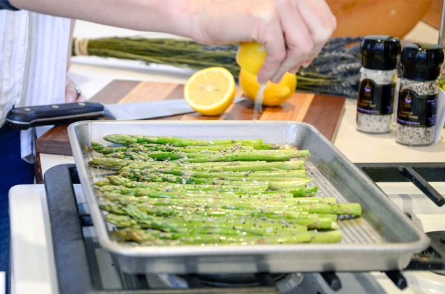 Lavender Lemon Asparagus Recipe