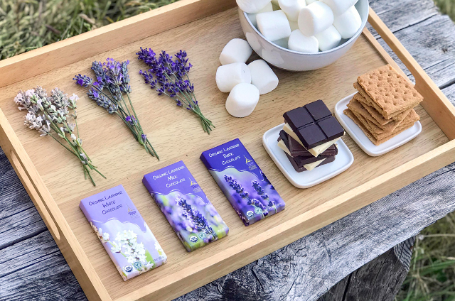How to Make Lavender Chocolate S'mores