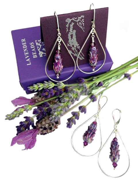 Lavender Jewelry and Earrings by Pelindaba Lavender